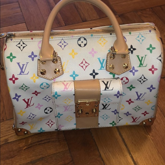 b3393ab8bb09 Louis Vuitton Handbags - Louis Vuitton White Monogram Multicolore Speedy 30